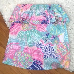 Lilly Pulitzer rilo tube top - roar of the seas